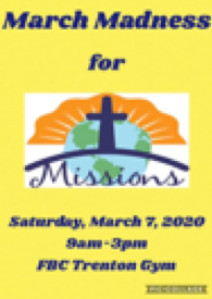 MARCH MADNESS FOR MISSIONS