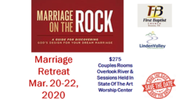 """Marriage on the Rock"" Marriage Retreat"